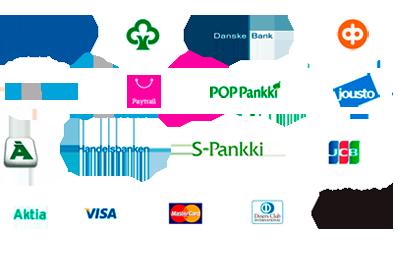 Kotimaiset verkkomaksupainikkeet